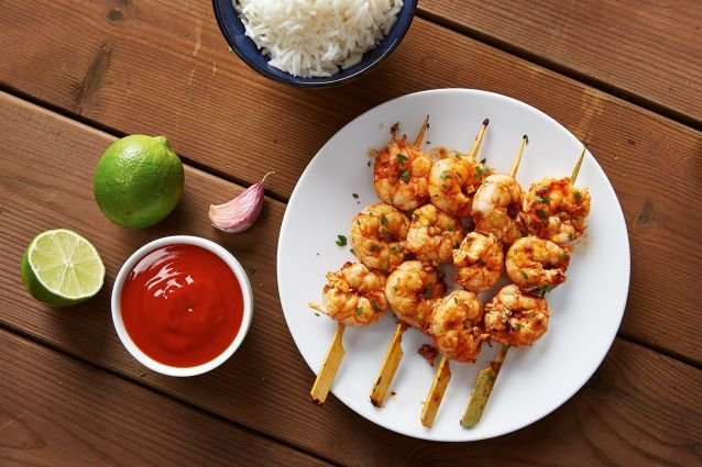Crevettes lime et gingembre - Idee repas barbecue ...